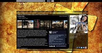 Cross Grunge Electronic Press Kit Theme