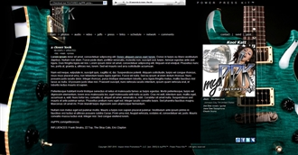 Electric Guitar Electronic Press Kit Theme