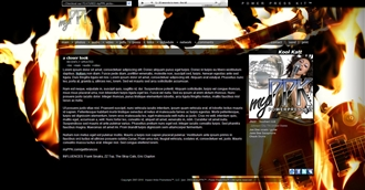 Flaming Guitar Electronic Press Kit Theme