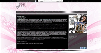 Pink Floral Electronic Press Kit Theme