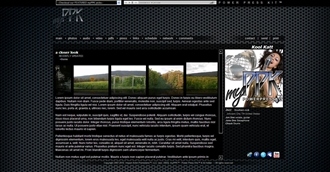 Speaker Grid Electronic Press Kit Theme