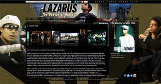 *Lazarus - The Doctor of Hip Hop Electronic Press Kit Custom Design