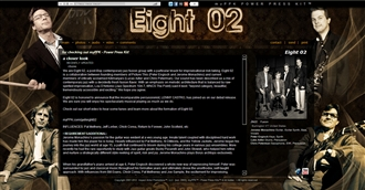 *Eight 02 Electronic Press Kit Custom Design