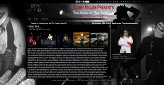 *Premier Michael Jackson Impressionist Electronic Press Kit Custom Design
