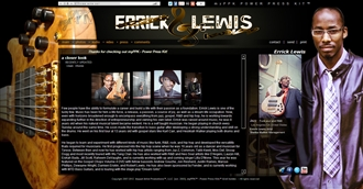 *Errick Lewis Electronic Press Kit Custom Design