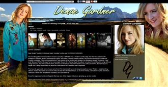 *Denae Gardner Electronic Press Kit Custom Design