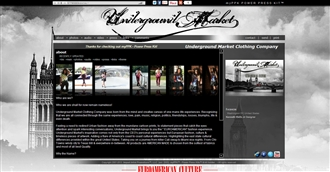 *Underground Market Clothing Electronic Press Kit Custom Design