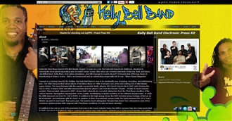 *Kelly Bell Band Electronic Press Kit Custom Design