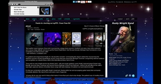 *Rusty Wright Band Electronic Press Kit Custom Design