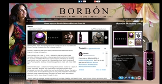 *Borbon Skin Care Electronic Press Kit Custom Design