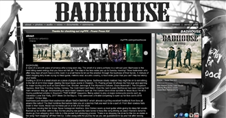 *Badhouse Electronic Press Kit Custom Design