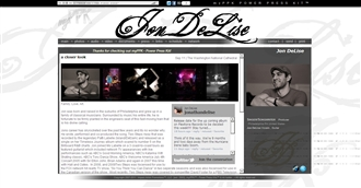 *Jon DeLise Electronic Press Kit Custom Design