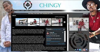 *Chingy Electronic Press Kit Custom Design