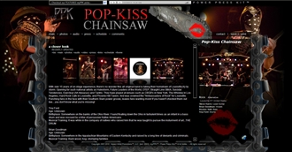 *Pop-Kiss Chainsaw Electronic Press Kit Custom Design