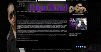 *Johnny Michael Electronic Press Kit Custom Design