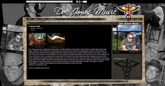 *Doc James Music Electronic Press Kit Custom Design