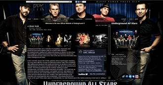 *Underground All Stars Electronic Press Kit Custom Design