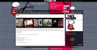 *Tims Barbershop Electronic Press Kit Custom Design