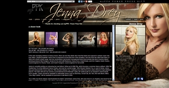 *Jenna Drey Electronic Press Kit Custom Design